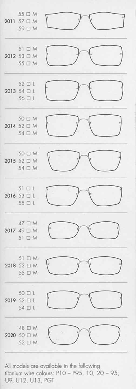 Eyeglasses Frame Color Guide : Air Titanium, Lindberg Eyewear, Spirit, Spectech in Santa ...